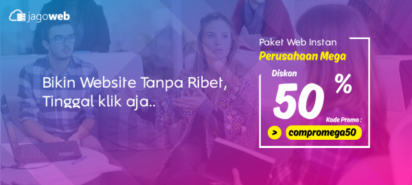 Promo Website Perusahaan Instan MEGA DISKON 50%
