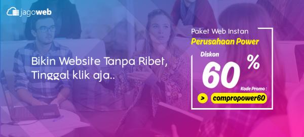 Promo Website Perusahaan Instan Diskon POWER 60%