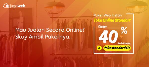 Promo Website Toko Online Instan Diskon Std 40%