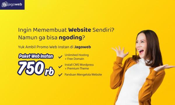 Promo Website Instan, Hingga 50%!!!