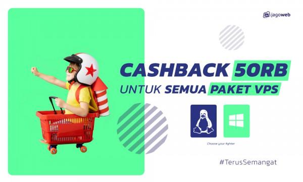 Promo VPS Spesial Kemerdekaan CASHBACK 50K!
