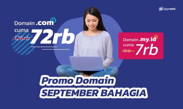 Promo Domain September Bahagia