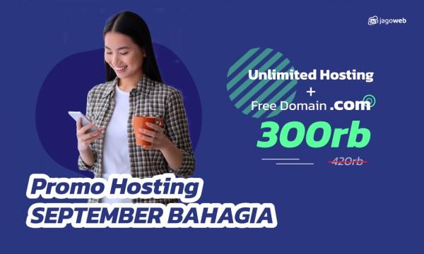 Promo Hosting September Bikin Bahagia