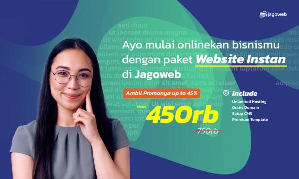 Super Sale Promo Website Instan Upto 45%