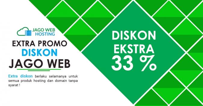 Ekstra Diskon 33 % Order Ketiga Semua Paket Hosting