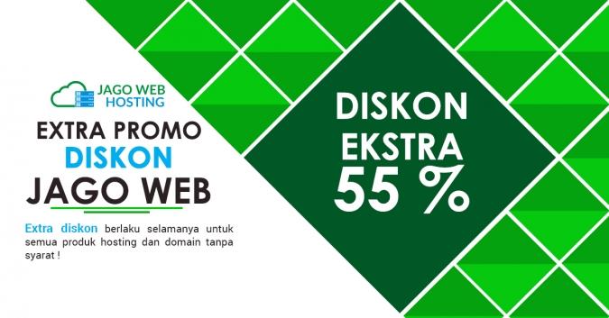 Ekstra Diskon 55 % Untuk Order Hosting Kelima