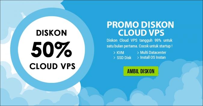 Diskon 50% Cloud VPS Tahun 2017
